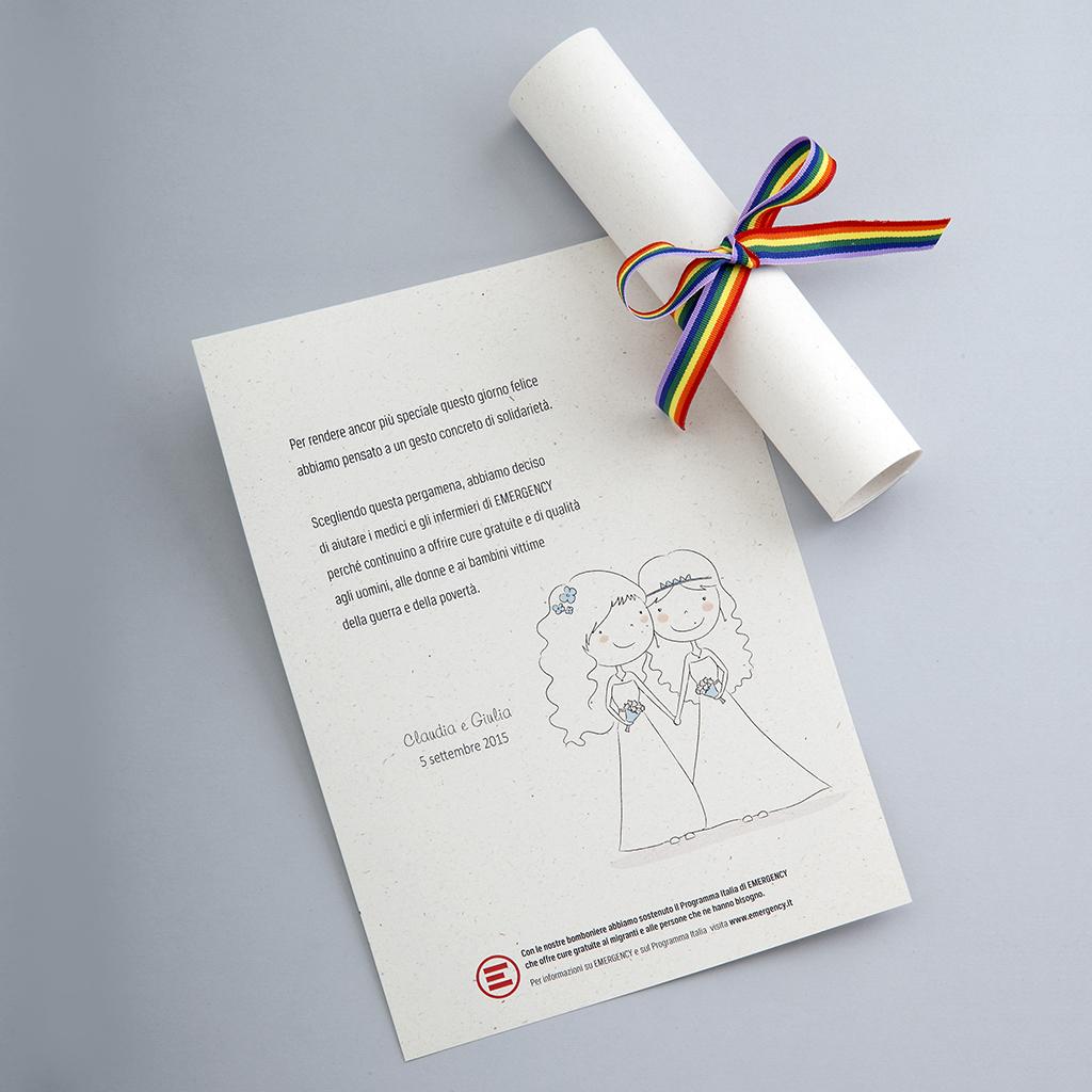 Partecipazioni Matrimonio Emergency.Cadeau De Mariage Solidali Da Emergency